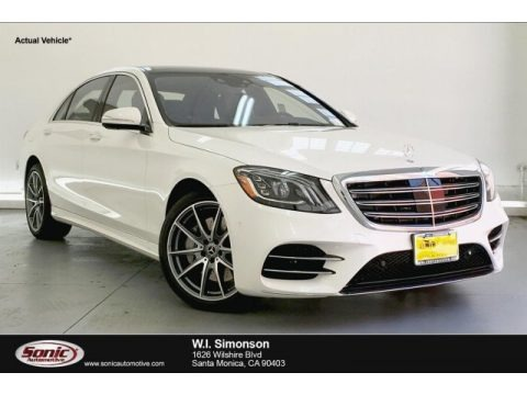 designo Diamond White Metallic 2019 Mercedes-Benz S 560 4Matic Sedan