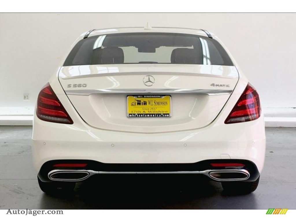 2019 S 560 4Matic Sedan - designo Diamond White Metallic / Nut Brown/Black photo #3