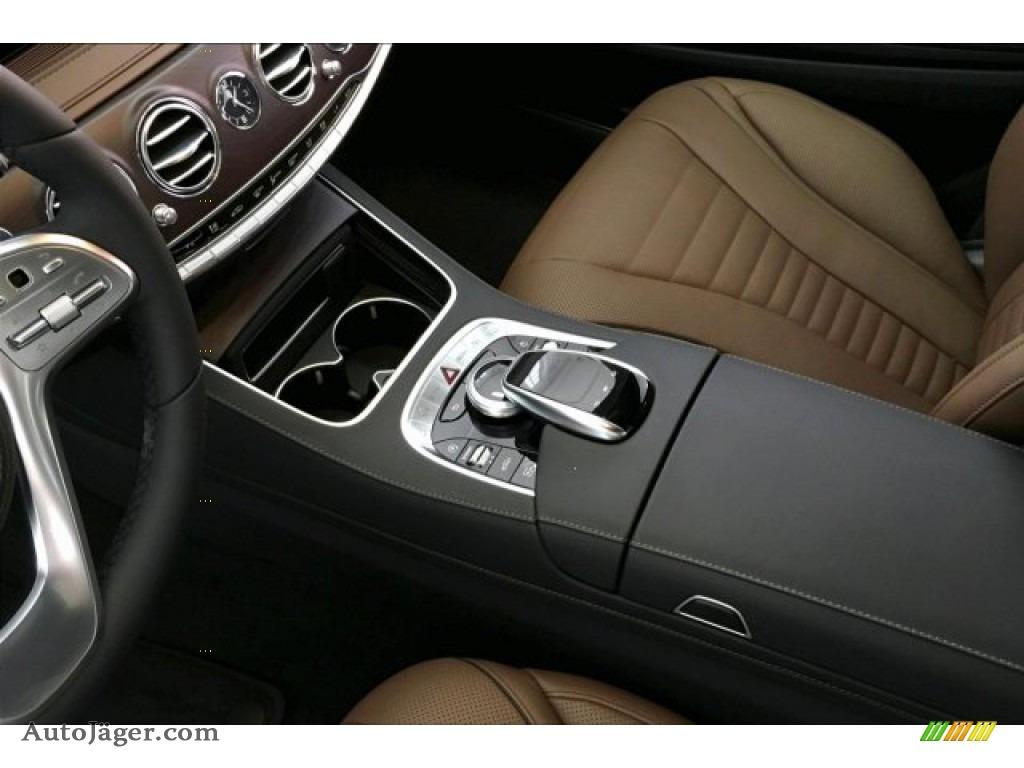 2019 S 560 4Matic Sedan - designo Diamond White Metallic / Nut Brown/Black photo #7