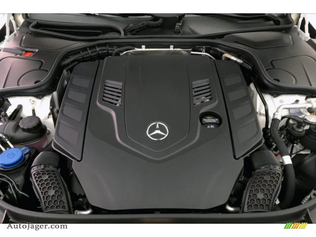 2019 S 560 4Matic Sedan - designo Diamond White Metallic / Nut Brown/Black photo #8