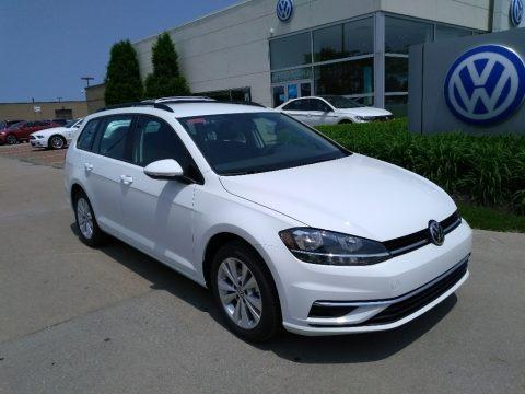 Pure White 2019 Volkswagen Golf SportWagen S