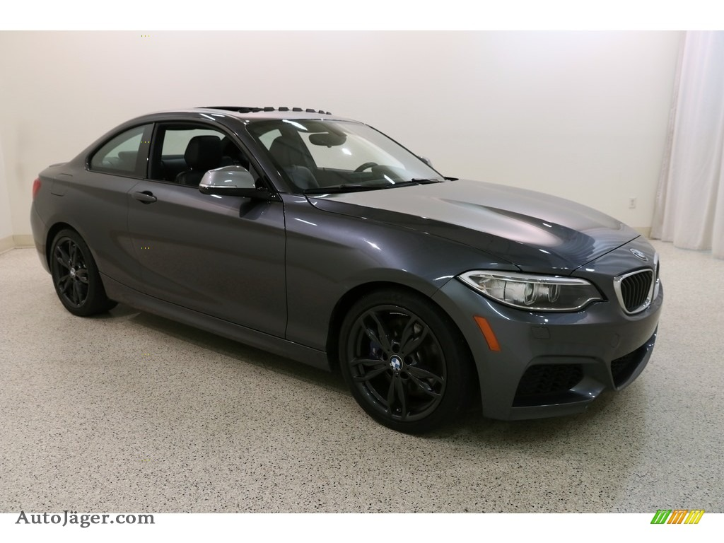 2016 M235i Coupe - Mineral Grey Metallic / Black photo #1