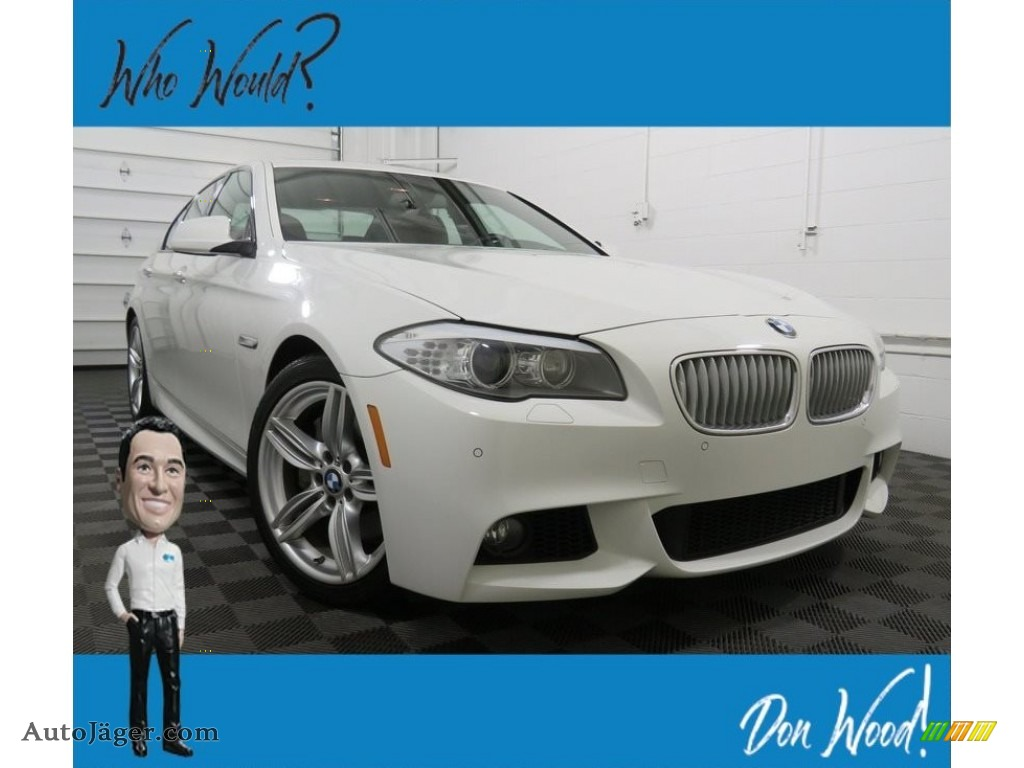 2013 5 Series 550i Sedan - Alpine White / Cinnamon Brown photo #1