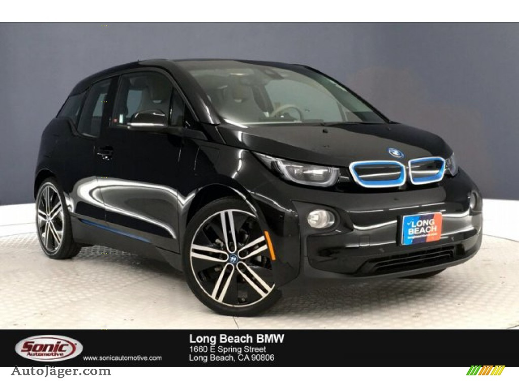 2017 i3 with Range Extender - Fluid Black / Giga Cassia Natural Leather/Carum Spice Grey Wool Cloth photo #1