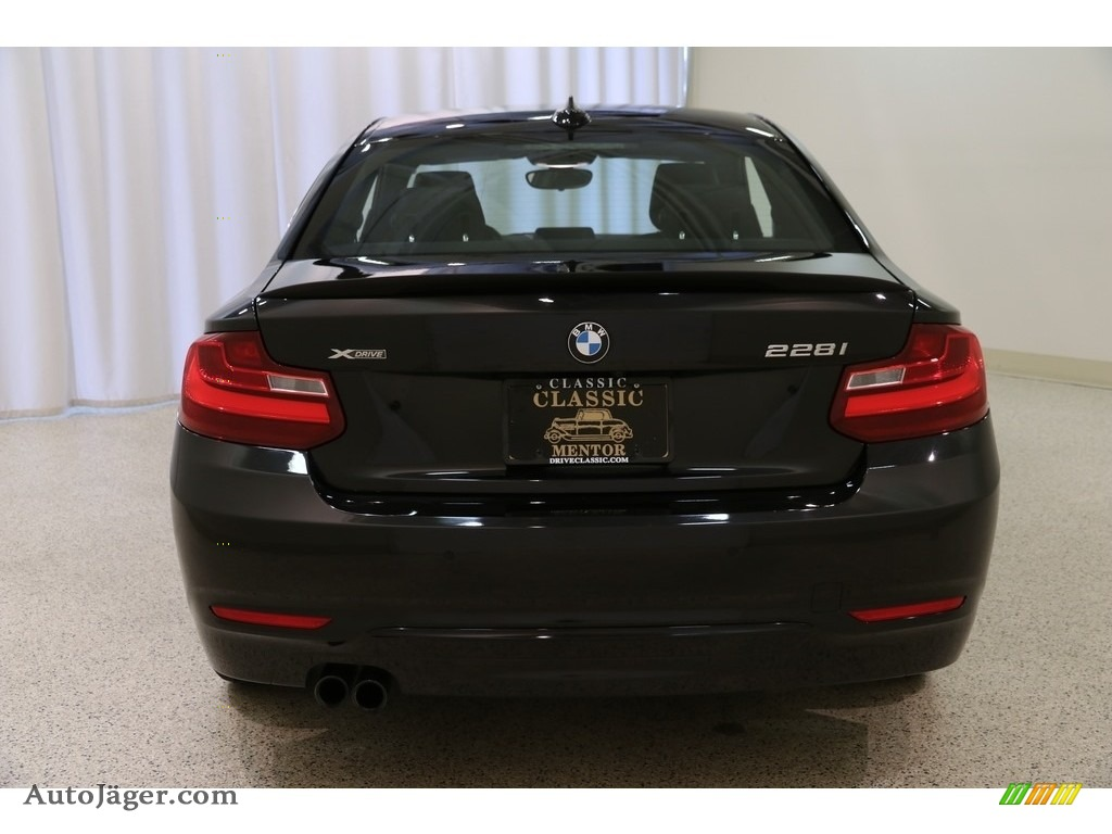 2016 2 Series 228i xDrive Coupe - Black Sapphire Metallic / Black photo #19