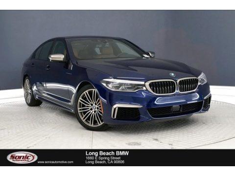 Mediterranean Blue Metallic 2019 BMW 5 Series M550i xDrive Sedan