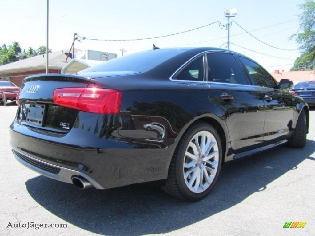 2012 A6 3.0T quattro Sedan - Phantom Black Pearl Effect / Black photo #10