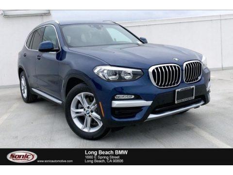 Phytonic Blue Metallic 2019 BMW X3 sDrive30i