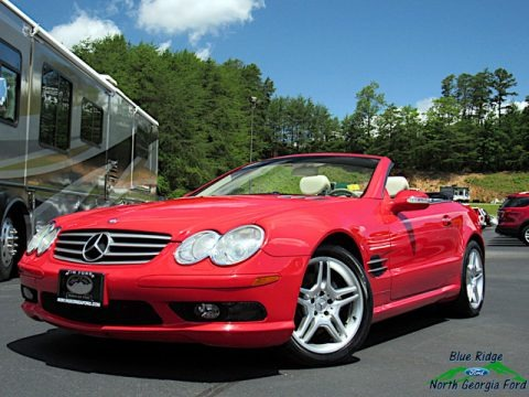 Firemist Red Metallic 2003 Mercedes-Benz SL 500 Roadster