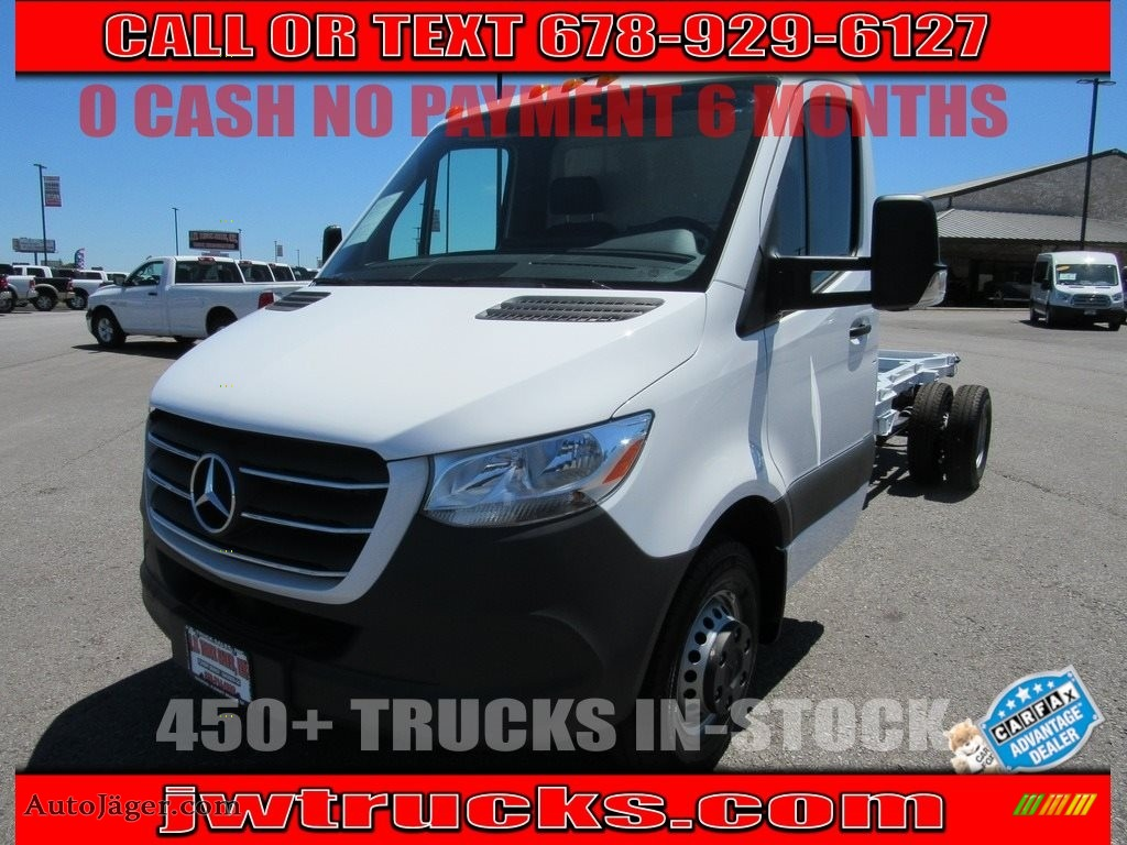 2019 Sprinter 3500XD Cab Chassis - Arctic White / Black photo #1
