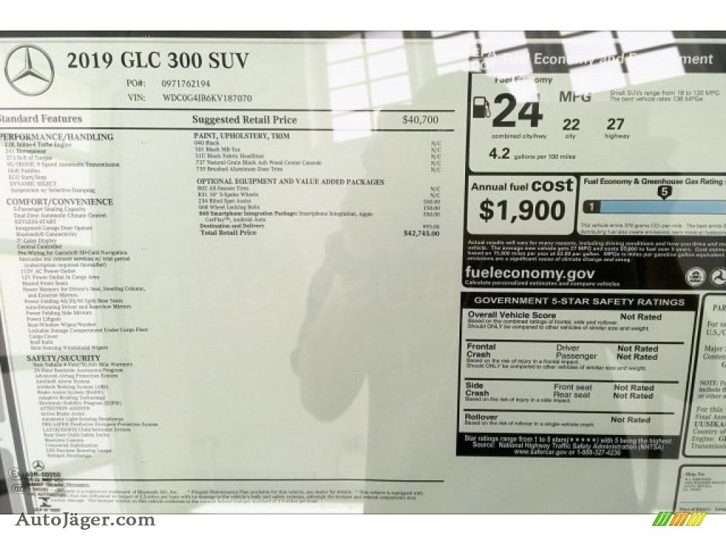 2019 GLC 300 - Black / Black photo #10