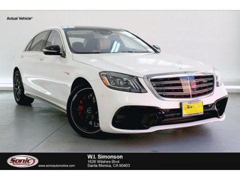designo Diamond White Metallic 2019 Mercedes-Benz S AMG 63 4Matic Sedan