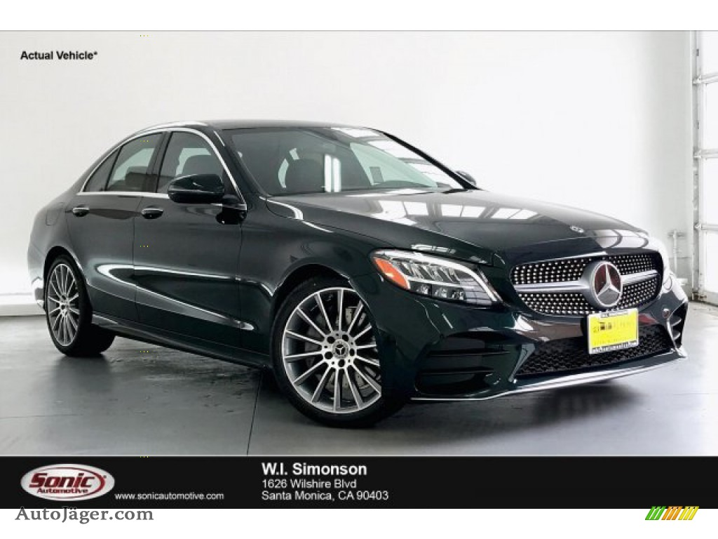 2019 C 300 Sedan - Emerald Green Metallic / Black photo #1