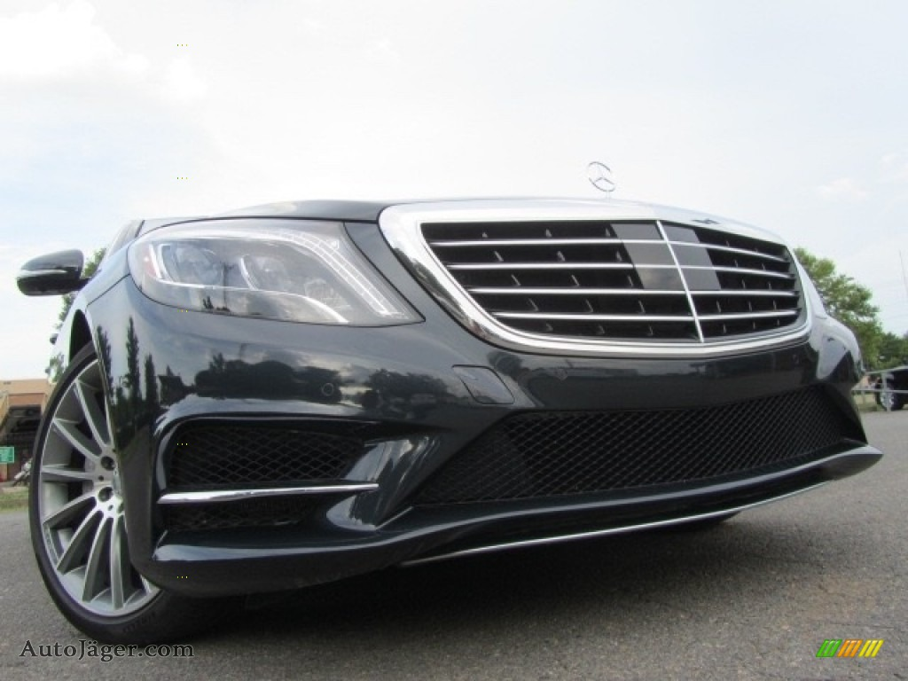 2015 S 550 4Matic Sedan - Anthracite Blue Metallic / Crystal Grey/Seashell Grey photo #1