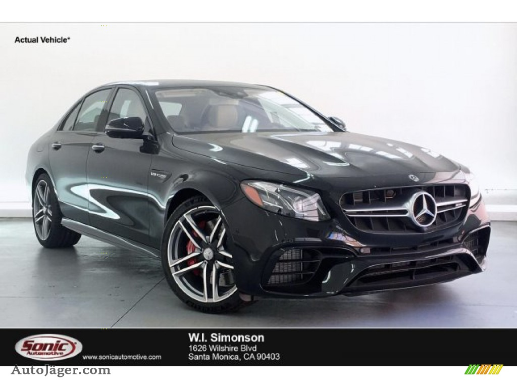 2019 E AMG 63 S 4Matic Sedan - Obsidian Black Metallic / Macchiato Beige/Black photo #1