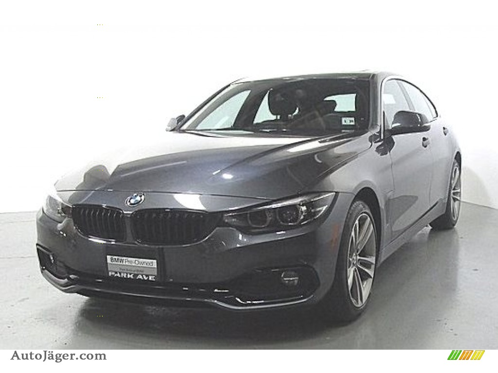 2019 4 Series 430i xDrive Gran Coupe - Mineral Grey Metallic / Black photo #1