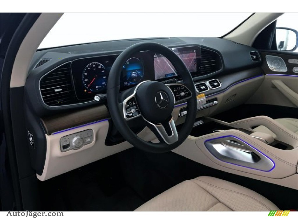 2020 GLE 350 4Matic - Lunar Blue Metallic / Macchiato Beige/Magma Grey photo #4
