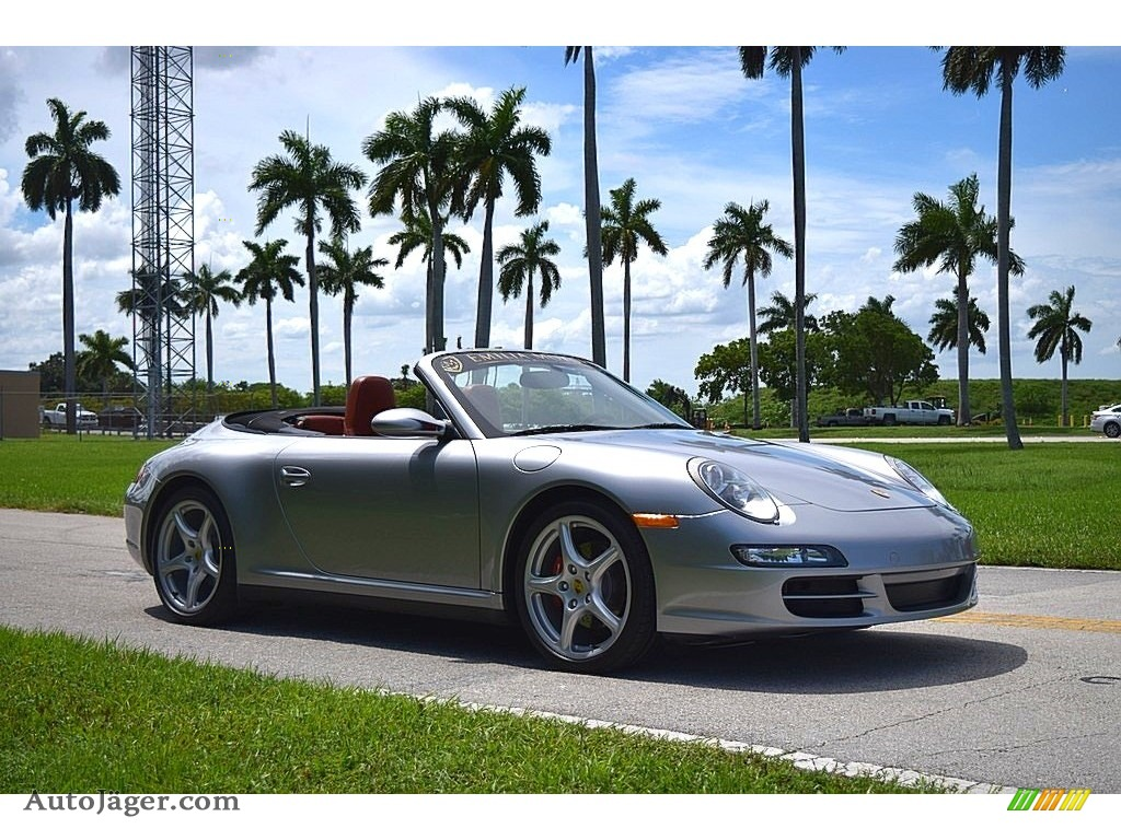 2006 911 Carrera 4 Cabriolet - GT Silver Metallic / Terracotta photo #1