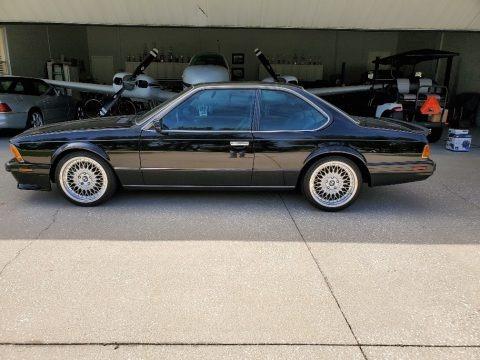 Black 1988 BMW M6 Coupe