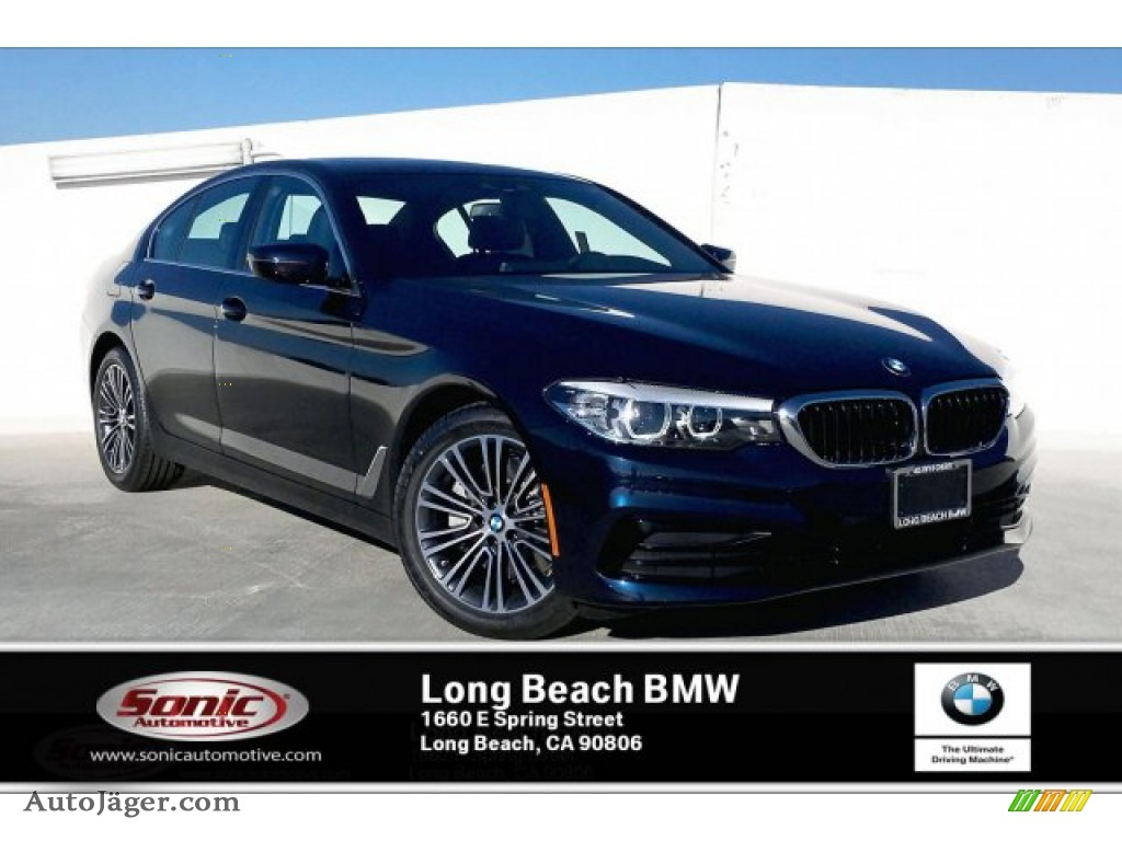 2019 5 Series 530i Sedan - Imperial Blue Metallic / Black photo #1