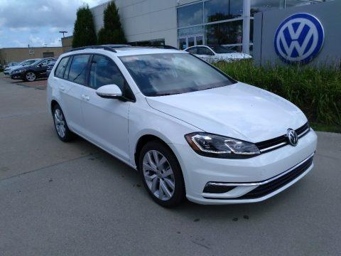 Pure White 2019 Volkswagen Golf SportWagen SE