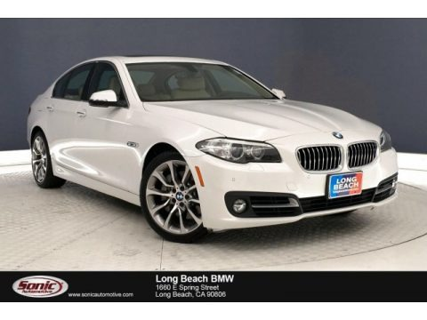 Mineral White Metallic 2016 BMW 5 Series 535i Sedan