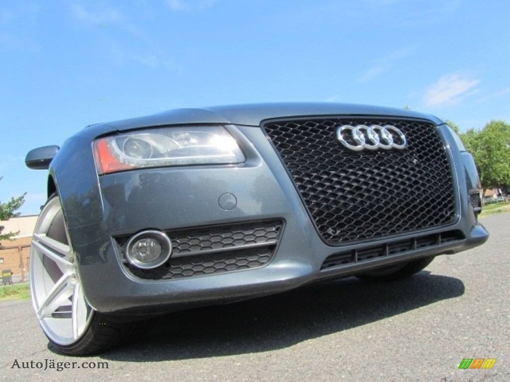 2010 A5 2.0T quattro Coupe - Quartz Gray Metallic / Black photo #1
