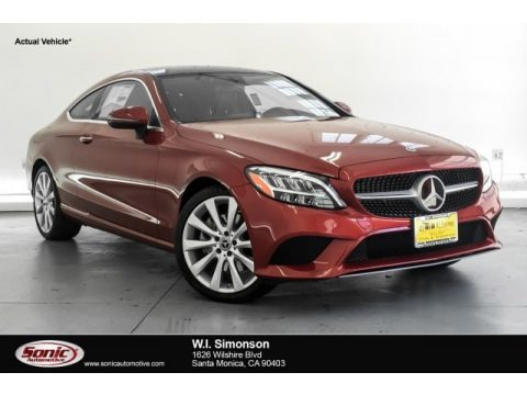 designo Cardinal Red Metallic 2019 Mercedes-Benz C 300 Coupe