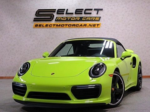Paint To Sample Acid Green 2018 Porsche 911 Turbo S Cabriolet