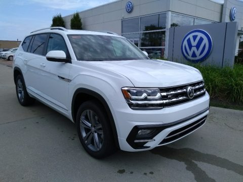 Pure White 2019 Volkswagen Atlas SEL R-Line 4Motion