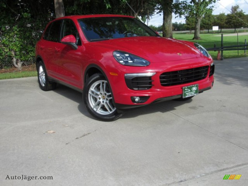 2016 Cayenne  - Carmine Red / Black photo #1