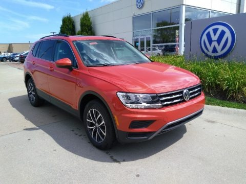 Habanero Orange Metallic 2019 Volkswagen Tiguan SE 4MOTION