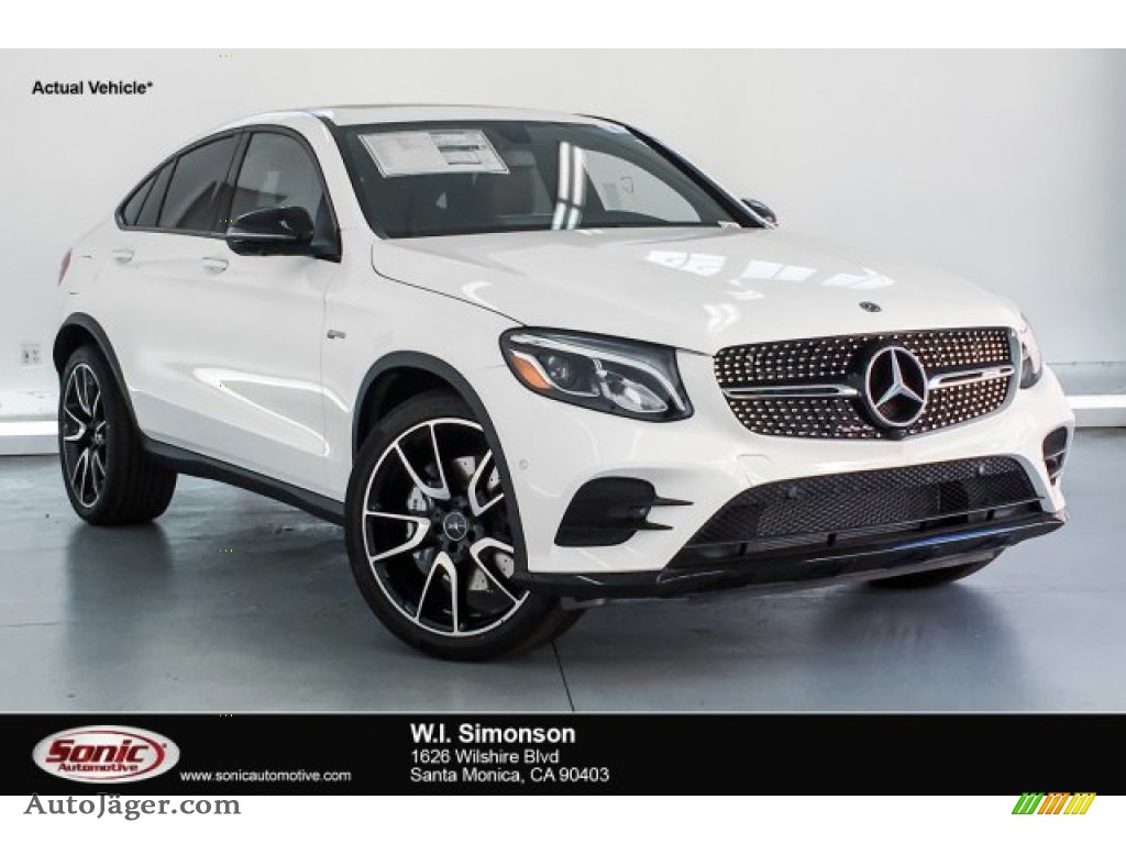 2019 GLC AMG 43 4Matic Coupe - Polar White / Cranberry Red/Black photo #1