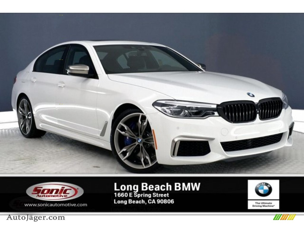 2020 5 Series M550i xDrive Sedan - Alpine White / Black photo #1