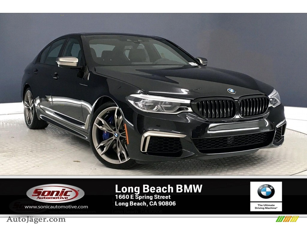 2020 5 Series M550i xDrive Sedan - Black Sapphire Metallic / Black photo #1