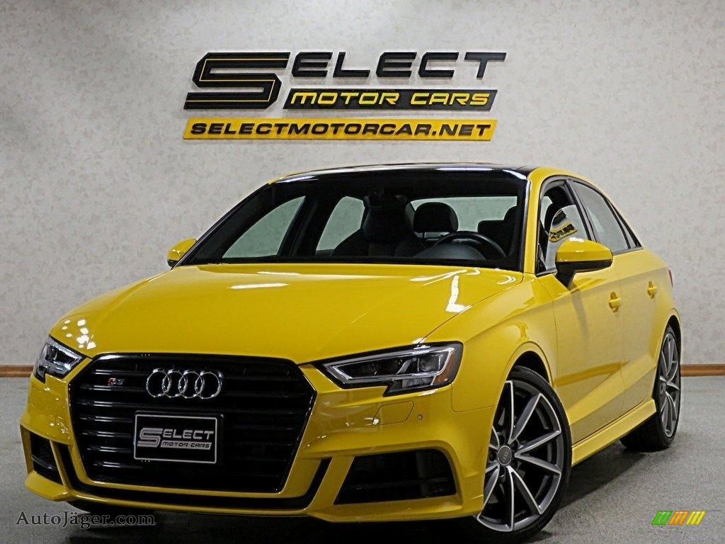 2018 S3 2.0T Tech Premium Plus - Vegas Yellow / Black photo #1