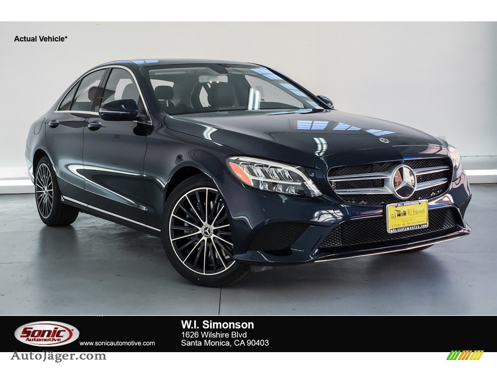 2019 C 300 Sedan - Lunar Blue Metallic / Magma Grey/Black photo #1