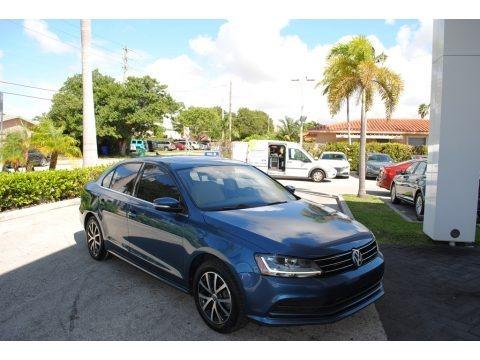 Silk Blue Metallic 2017 Volkswagen Jetta SE