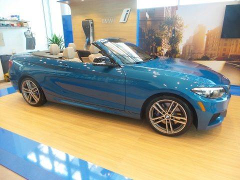 Long Beach Blue Metallic 2020 BMW 2 Series M240i xDrive Convertible