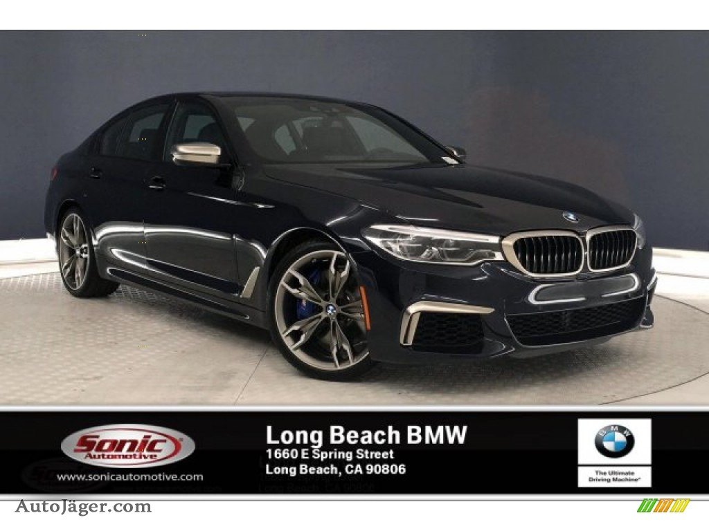 Carbon Black Metallic / Black BMW 5 Series M550i xDrive Sedan