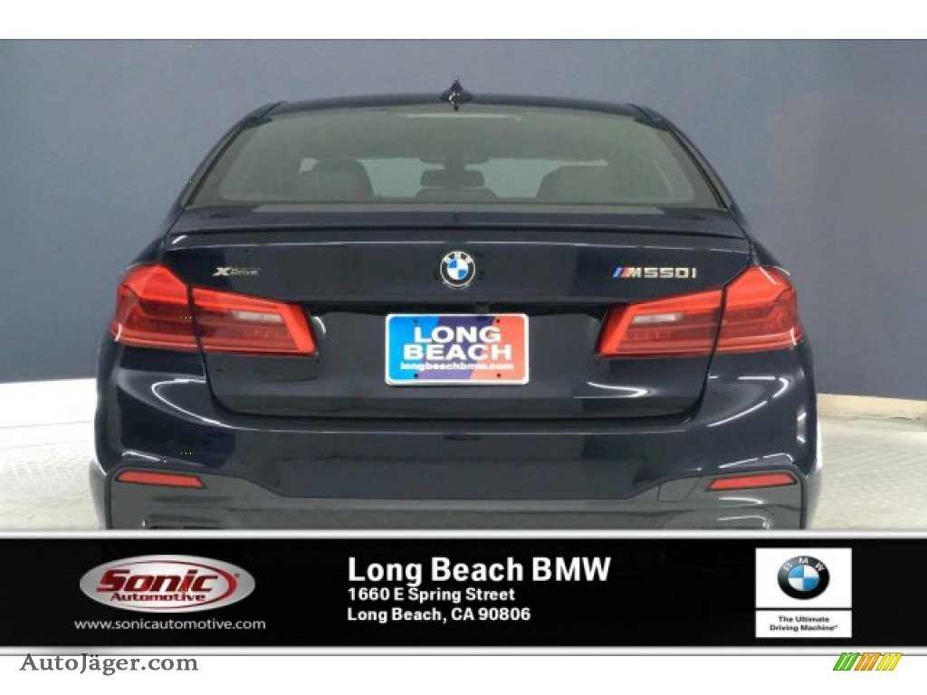 2020 5 Series M550i xDrive Sedan - Carbon Black Metallic / Black photo #3