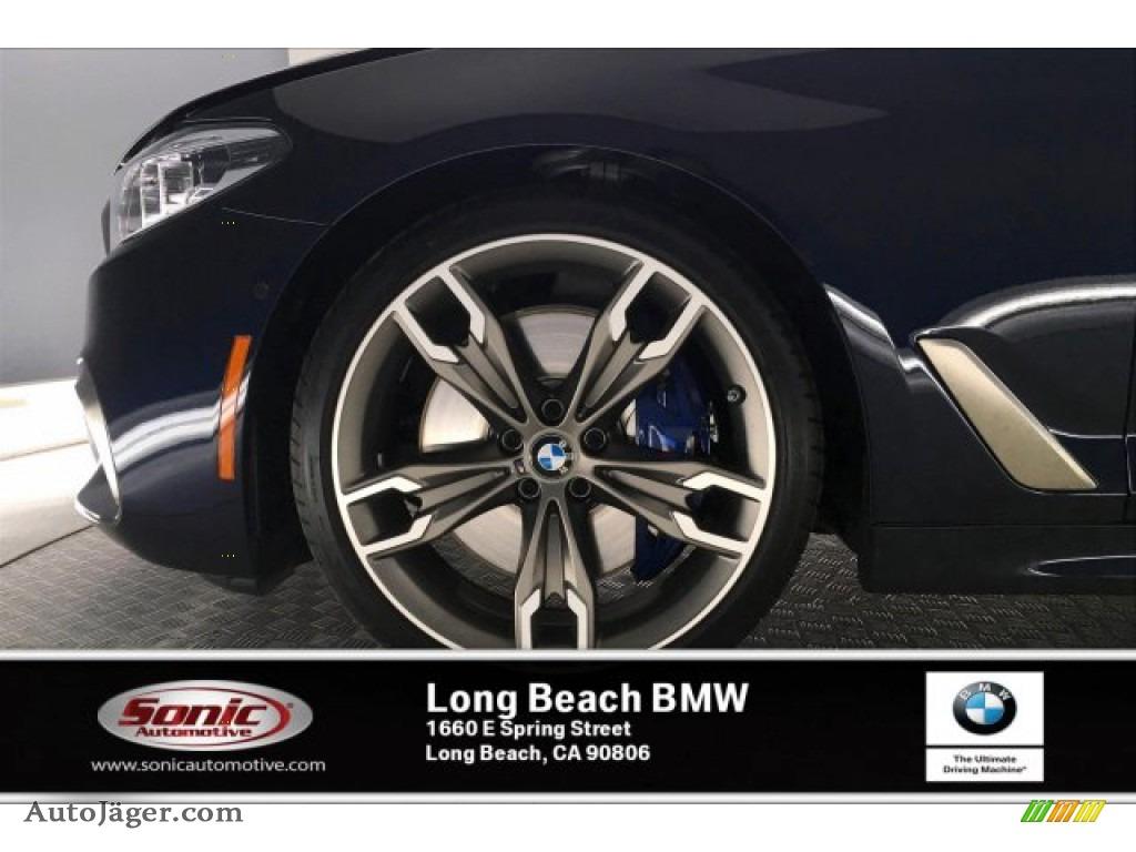 2020 5 Series M550i xDrive Sedan - Carbon Black Metallic / Black photo #9