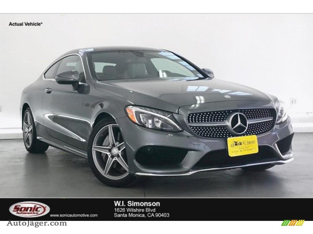2017 C 300 Coupe - Selenite Grey Metallic / Crystal Grey/Black photo #1