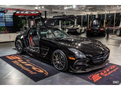 Obsidian Black Metallic 2014 Mercedes-Benz SLS AMG GT Coupe Black Series