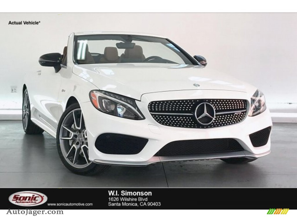 Polar White / Saddle Brown/Black Mercedes-Benz C 43 AMG 4Matic Cabriolet