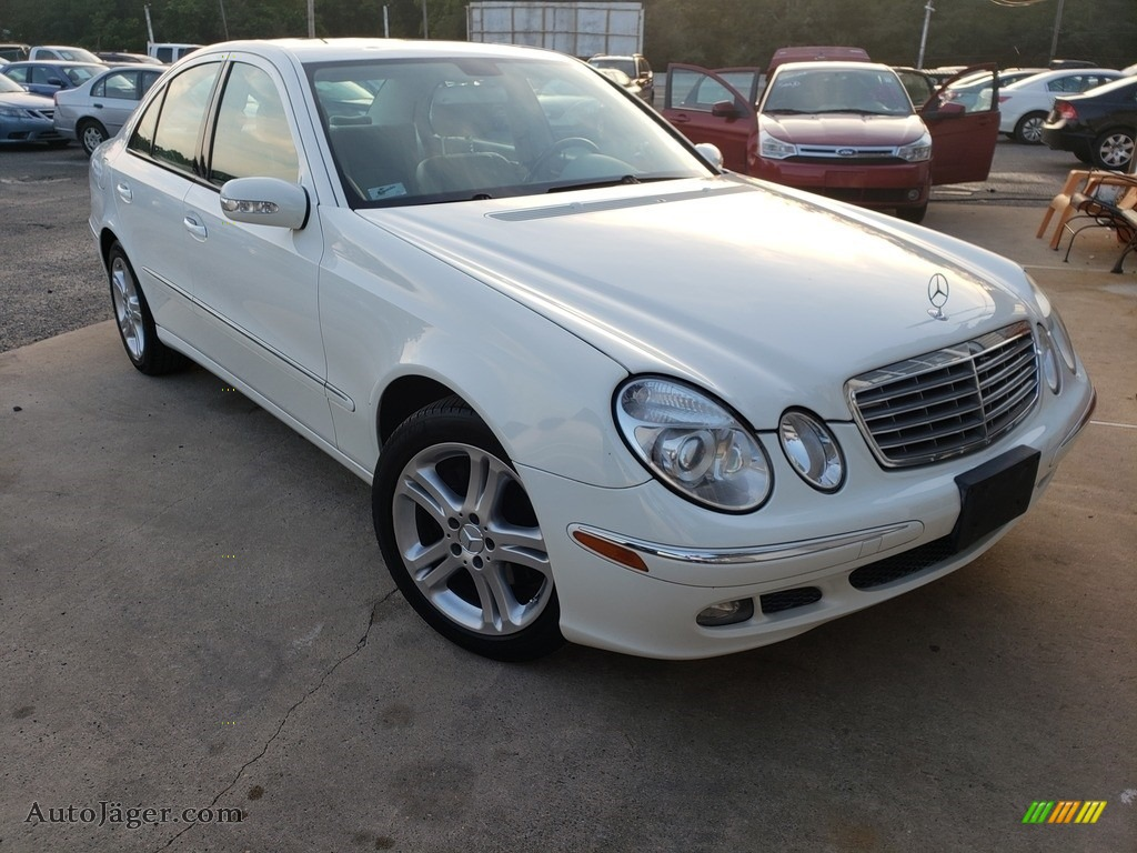 2006 E 350 4Matic Sedan - Alabaster White / Stone photo #1