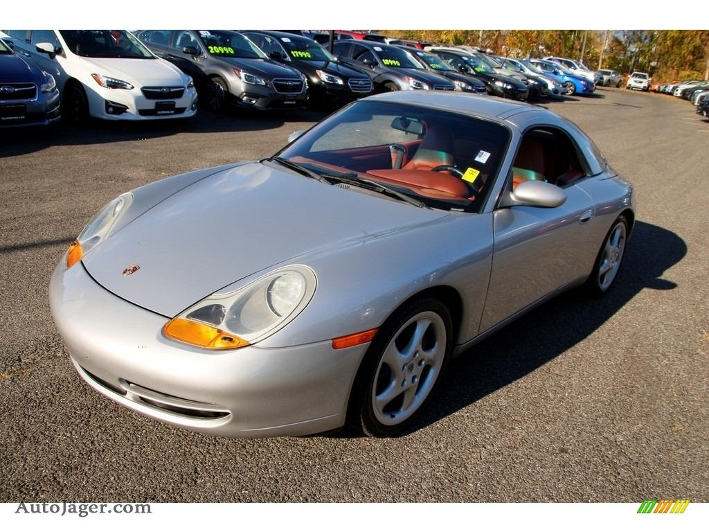 1999 911 Carrera Cabriolet - Arctic Silver Metallic / Boxster Red photo #1