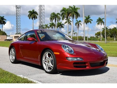 Ruby Red Metallic 2008 Porsche 911 Carrera S Coupe