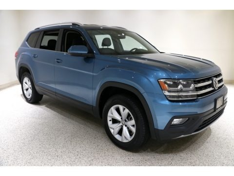 Pacific Blue Metallic 2019 Volkswagen Atlas SE 4Motion
