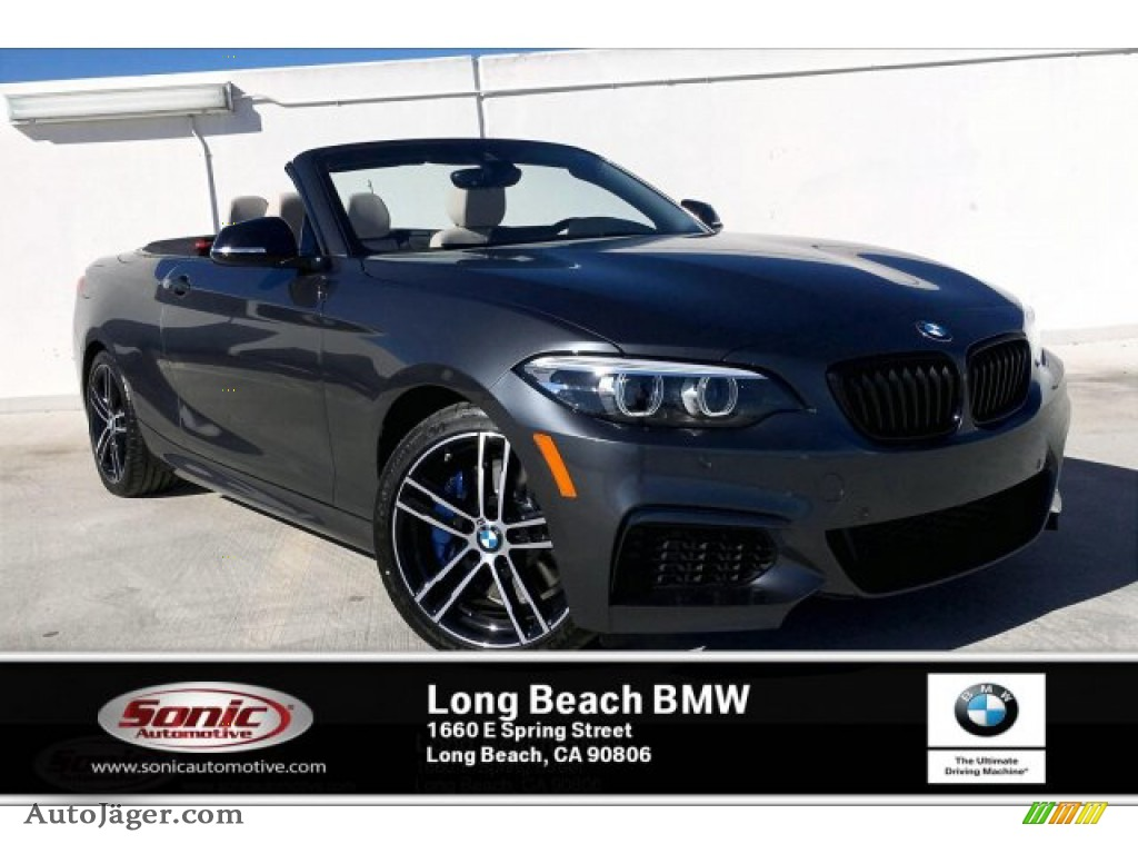 2020 2 Series M240i Convertible - Mineral Grey Metallic / Oyster photo #1